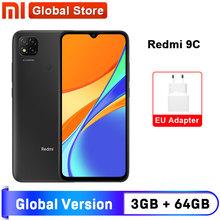 Wersja globalna Xiaomi Redmi 9C telefon komórkowy 9 C 3GB RAM 64GB ROM MediaTek Helio G35 6 53 #8222 5000mAh 13MP aparat fotograficzny Smartphone tanie tanio Nie odpinany CN (pochodzenie) Android Rozpoznawania linii papilarnych Inne Nonsupport Smartfony Pojemnościowy ekran english