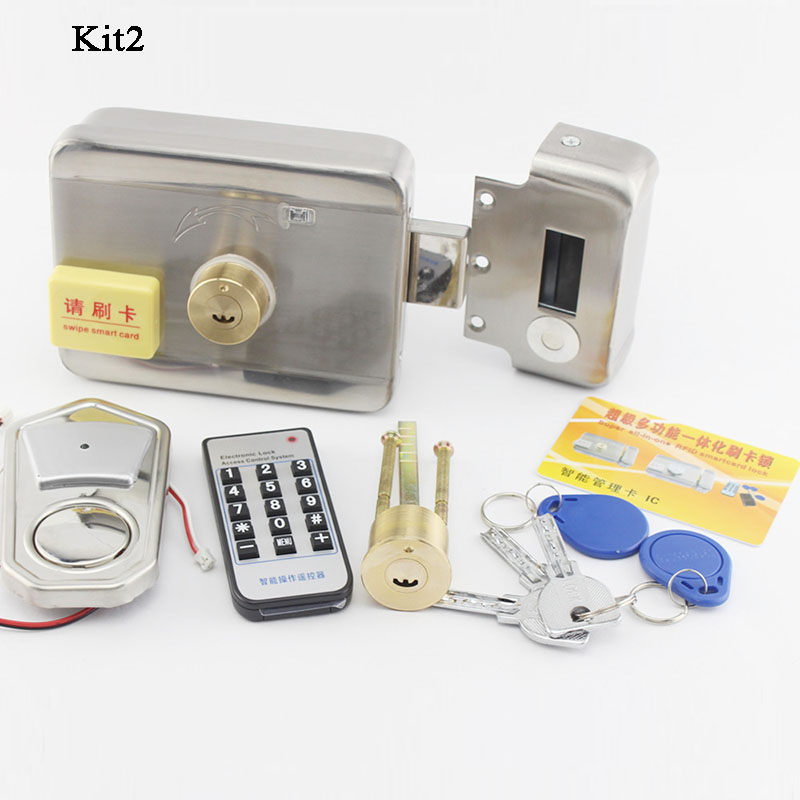 Waterproof WIFI Remote Control Electric Door Lcok RFID Lock Mechanical Key Phone Ewelink Home Gate Opener Access Control