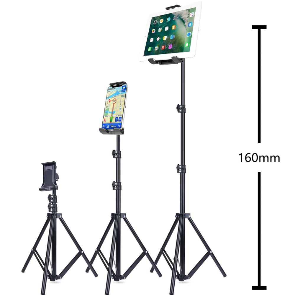 Tripod Floor Stand for iPad pro 12.9 air 2 3 4 20 To 50 Inch Adjustable Tablet Mount for iPhone 12 mini pro promax mobile phone
