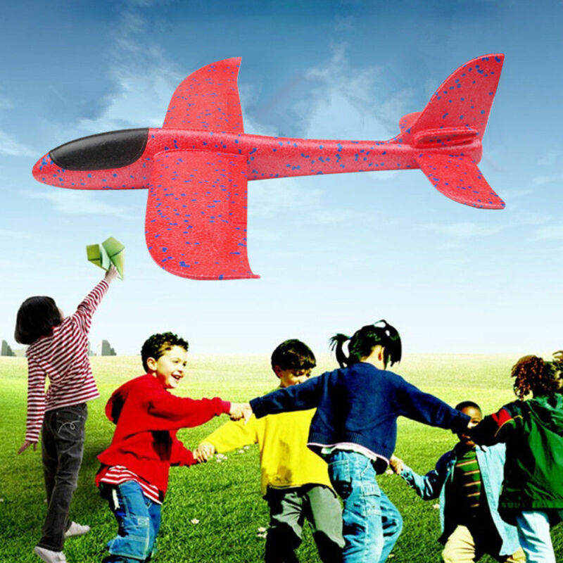 Children's Hand Throwing Flying Toy Large Glider Aircraft Foam Plastic Airplane Model Toy Sturdy Kid's Games Boy's Gift DIY image
