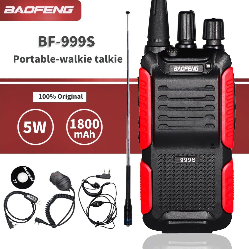 Baofeng BF-999S Plus Walkie Talkie 5W 1800mAh Portable CB Ham Radio 10km Two-way Radio FM Transceiver Upgrade BF-888s Intercom