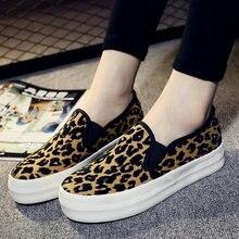Women Leisure loafers Driving Leopard Woman Platform Sneakers Slip On Lazy Ladie