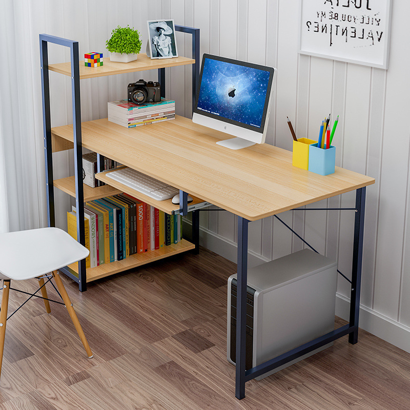 Wholesale Steel Wood Desktop Computer Desk Household Contracted And Contemporary Student Bedroom Shelf Summary Table
