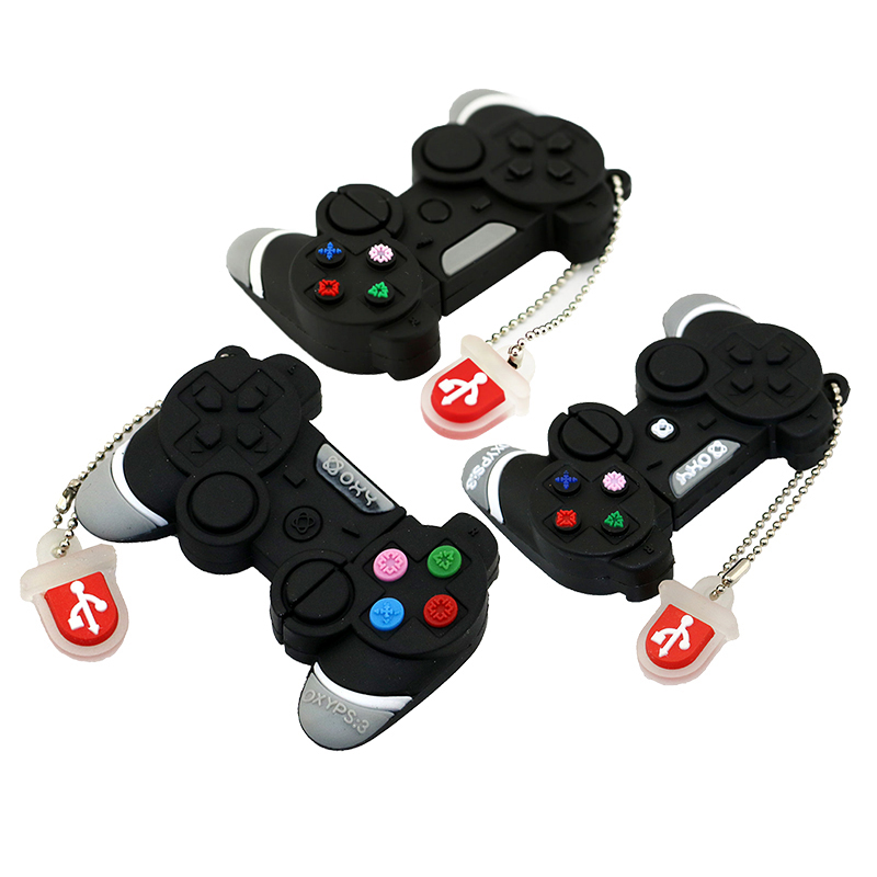 Real Capacity Game Controllers USB Flash Drive PSP Consoles Handle Pen Drive 32GB 16GB 8GB 4GB Keychain PenDrive USB 2.0 Disk