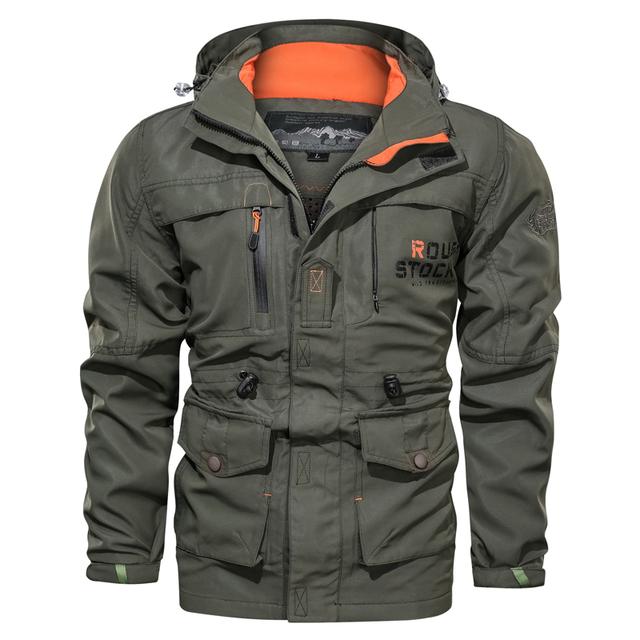Men's Winter Bomber Jacket Men Autumn Military Jackets Male Brand Tactical Jackets Mens MA1 Army Multi-pocket Waterproof Coats