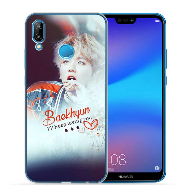SEHUN CHANYEOL EXO coque de téléphone en Silicone souple pour Huawei P10 P20 P30 Lite Plus Pro P smart Y5 Y6 Y7Prime Nova 3 3i
