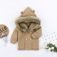 Baby Sweaters Clothes For Newborn Cartoon Bear Knitted Infant Boys Cardigans Autumn Winter Toddler Girls Jackets Coats Costume red christmas reindeer knitted baby jacket for girls fall long sleeved sweaters cardigans coats newborn boys winter warm clothes