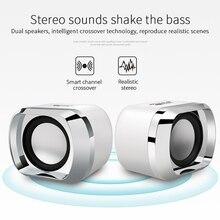 1Pair USB Laptop Speakers 3.5mm Mini Stereo Speaker For Desktop Laptop PC
