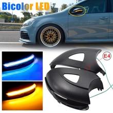 2pcs specchietto retrovisore lampeggiante dinamico indicatore di direzione a LED per Volkswagen VW GOLF 6 VI MK6 GTI R line R20 Touran