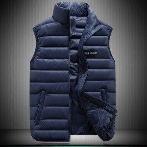 Image 2 - Autumn Winter couple models light down jacket Large size cotton vest down Cotton vest men women Slim fashion vest S 6XL