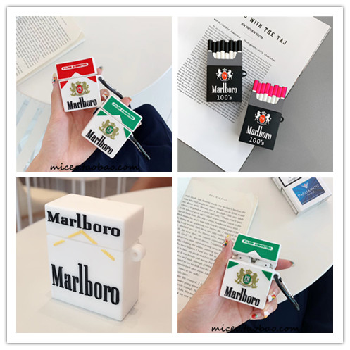 New Creative Menthol Cigarettes Airpods1 2 Covers Wireless Bluetooth Headset Silicone Soft Shell Couple  Apple Airpods Case
