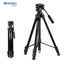 Benro T980EX حامل ثلاثي من الألمنيوم حامل كاميرا فيديو محمول مع 3 Way Pan/إمالة الرأس لقسم عرض حي 3