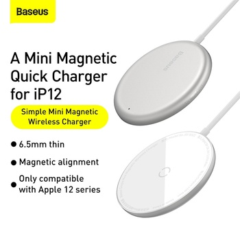 Baseus магнитное беспроводное зарядное устройство для iPhone 12 2