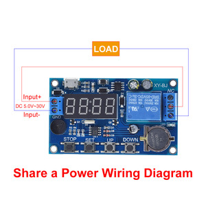 Image 2 - DC 5V Real time Timing Delay Timer Relay Module Switch Control Clock Synchronization Multiple mode control Wiring diagram