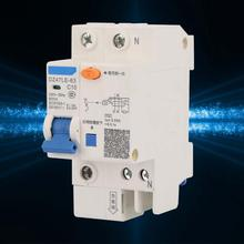 DZ47LE-63 1P+N 230V 10A Residual current Circuit Breaker with Over Current Leakage Protection air switch dmwd dpnl dz30le 32 1p n 25a 220v 230v 50hz 60hz residual current circuit breaker with over current and leakage protection rcbo