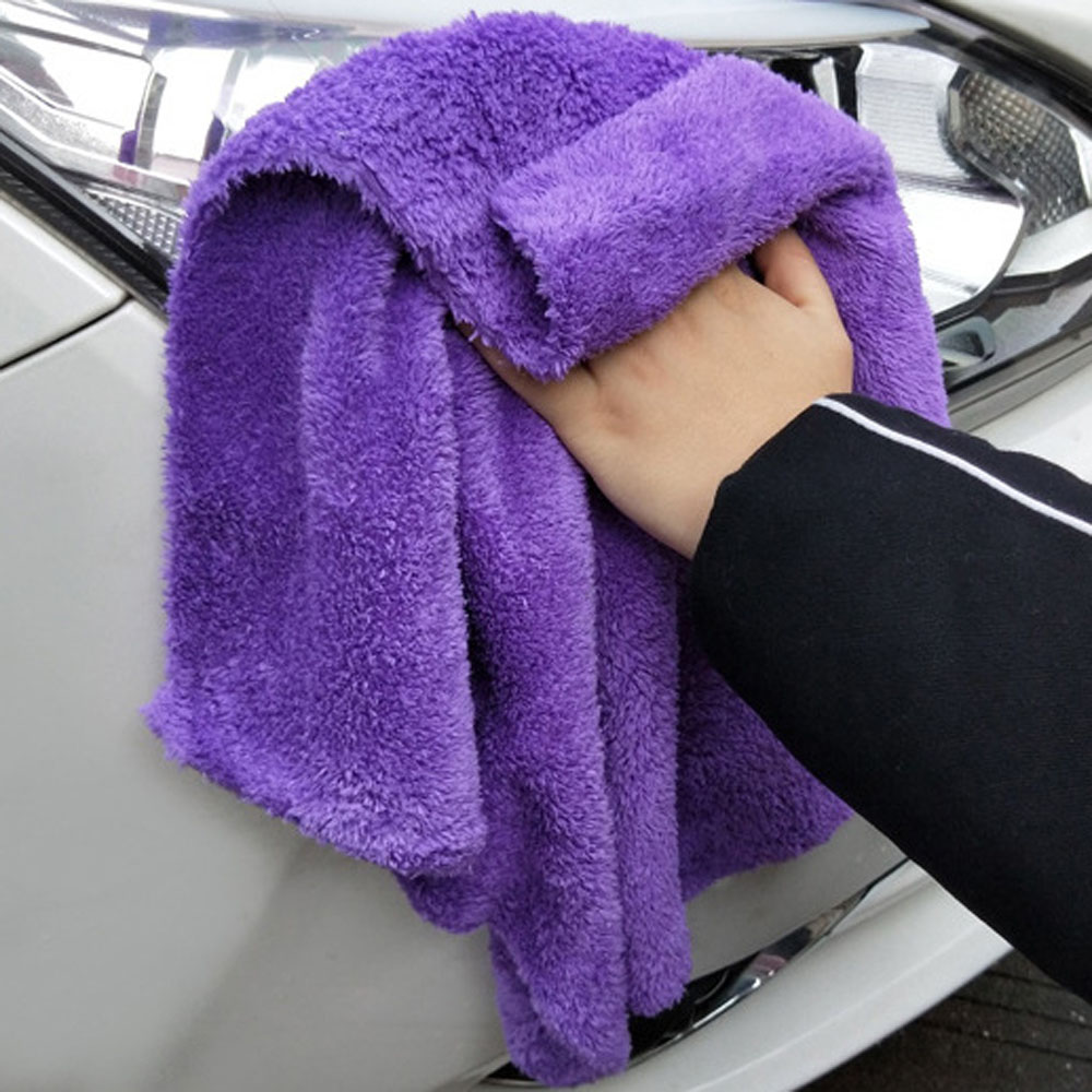 Drying-Towel Microfiber Car-Detailing 350GSM Edgeless Soft Super-Absorbenttowel 40X40CM title=