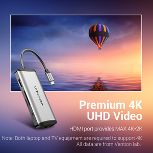 Image 4 - Vention USB C tipo C a 4K HDMI RJ45 VGA USB 3,0 HUB Dock para MacBook Pro Huawei Mate 30 USB C 3,1 divisor Puerto USB C HUB