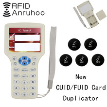 New Handheld RFID Copier 13.56Mhz NFC Smart Chip Card Reader CUID/FUID Tag Encryption Cracking Writer 125Khz Badge Duplicator