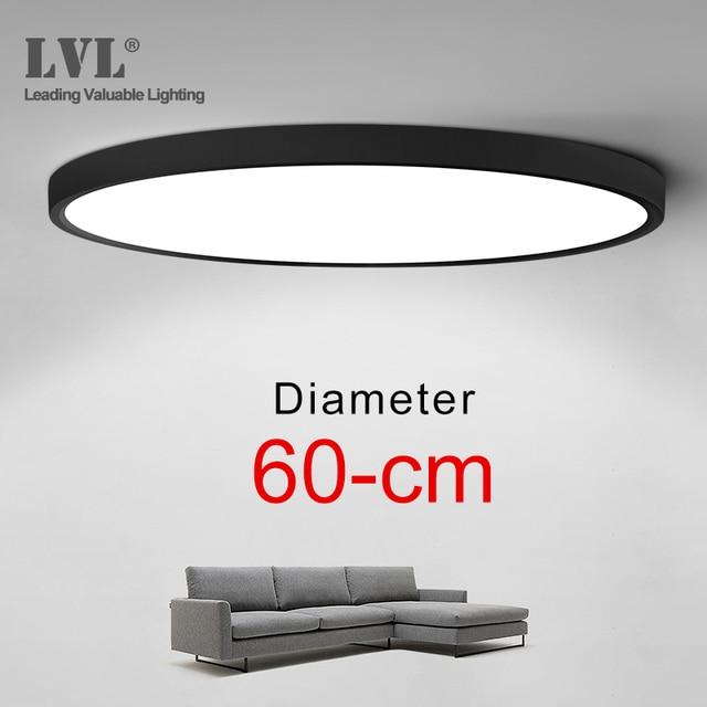 Lámpara de techo LED ultradelgada de montaje en superficie, moderna, 36W, 45W, 5000K, para cocina, dormitorio y baño