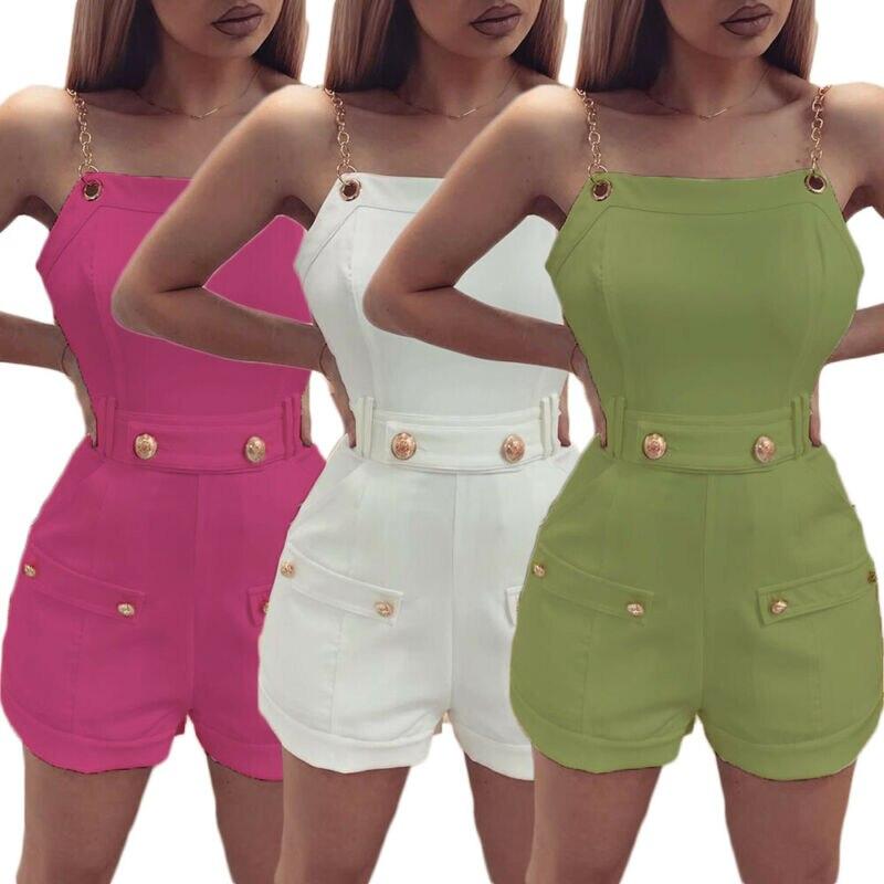 Women Jumpsuit Romper Trousers Bodycon Playsuit Clubwear Short Party Ladies Pant