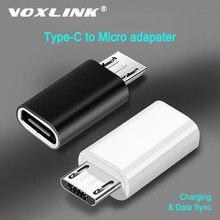 VOXLINK – adaptateur USB C vers Micro, boîtier en alliage, connecteur Micro USB vers Type C pour samsung Huawei pour Xiaomi
