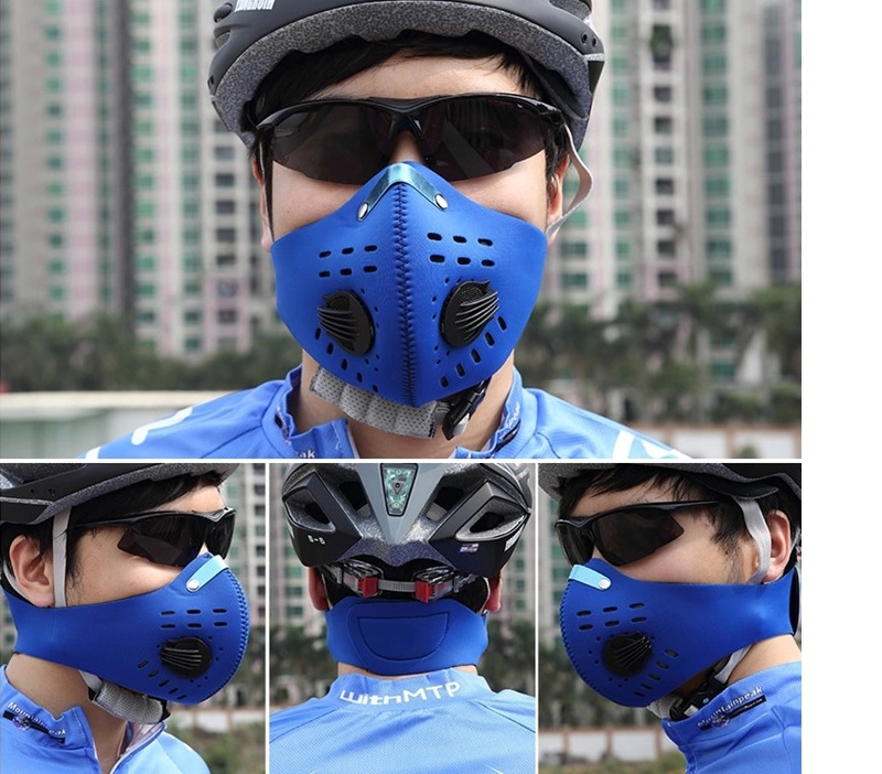 Men And Women Anti-Fog Mask Dust Pm2.5 Activated Carbon Mask Black Filter Breathing Valve Folding Mask