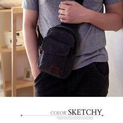 Популярная мужская маленькая нагрудная сумка на лямках, дорожная сумка через плечо, Повседневная однотонная мужская Холщовая Сумка