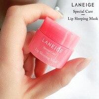 Korea lips care lip sleep mask night sleep hydrated maintenance lip balm pink lips whitening cream nourish protect 3g 2