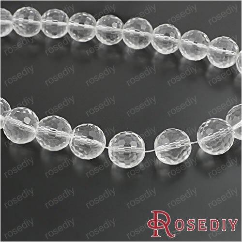 Диаметр 14 мм прозрачные белые круглые стеклянные бусины Сделай Сам ювелирные изделия фурнитура Аксессуары веревка шероховатые 25 шт(JM6833 - Цвет: Прозрачный