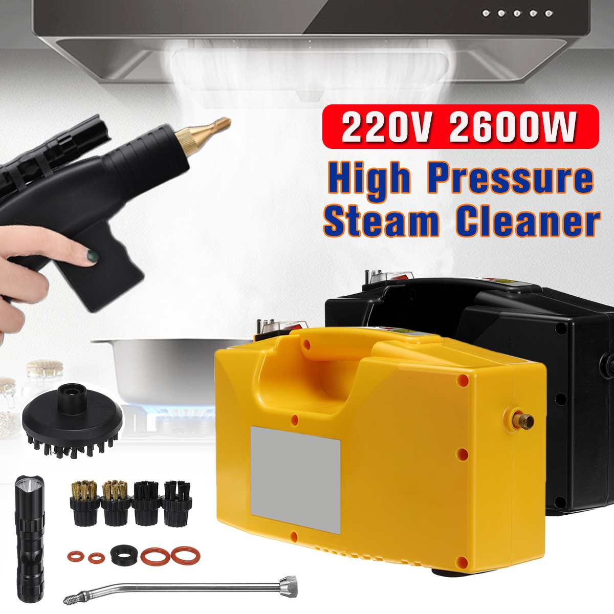 220V 2600W Handheld Steam Cleaner For Household Kitchen High Pressure Cleaning Machine Steam Generator