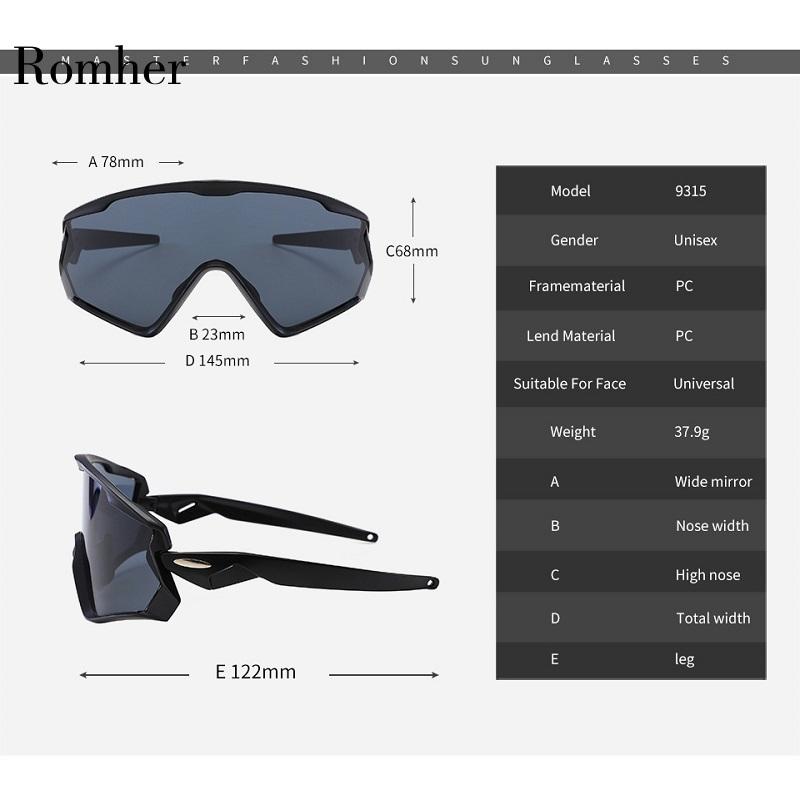 Romher Cycling Glasses Mountain Bicycle Road Bike Sport Sunglasses Mens Cycling Eyewear Gafas Ciclismo Oculos Carretera Occhiali