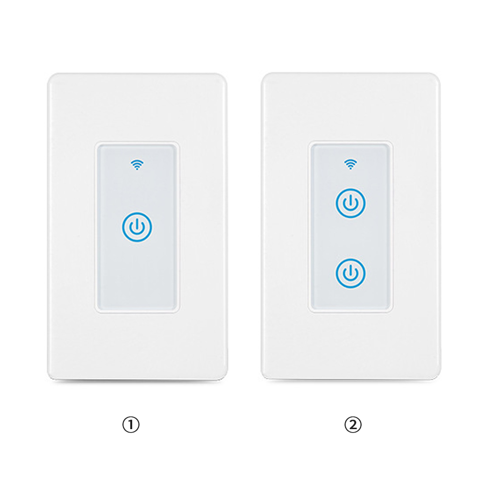 Teekar 1/2 Gang Wifi Smart Touch Switch US Standard Voice Control Wall Switch Smart Life Timer Works with Alexa Google Home