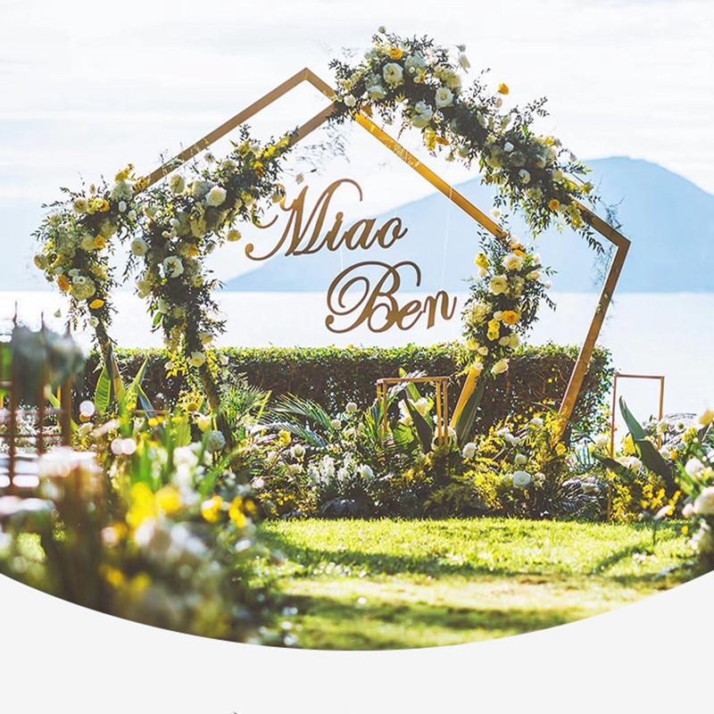 Пятиугольная АРКА, металлическая квадратная арка для свадебной вечеринки, базовая АРКА, подставка, дисплей, набор для выпускного, сада, цвет