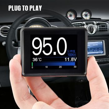 Universal Car Smart Digital Meter Head Up Display OBD II System Fuel Temp Gauge E7CA smart meter networks intrusion detection system by design