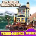 Креативные кирпичи, игрушки для ныряния, рыбацкий маяк и лодка Hous Diner, модель строительных блоков, 21310 игрушки, детские рождественские подарк...