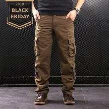 FALIZA мужские брюки карго с несколькими карманами в стиле милитари, тактические брюки, Хлопковая мужская верхняя одежда, прямые повседневные брюки для мужчин CK102