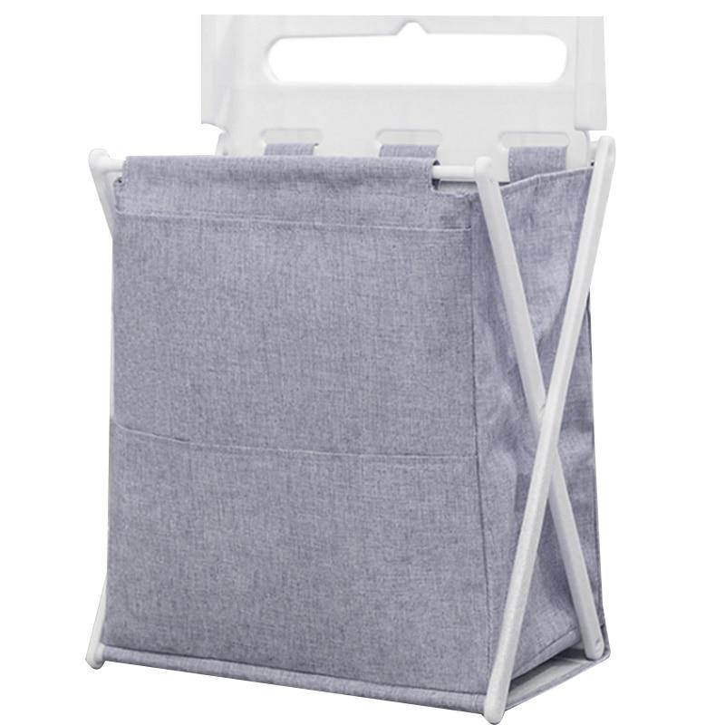 가정용 접이식 세탁 바구니 대형 방수 핸들 가방 욕실 더러운 의류 옥스포드 헝겊 보관 바구니 배럴-에서세탁 바구니부터 홈 & 가든 의 title=