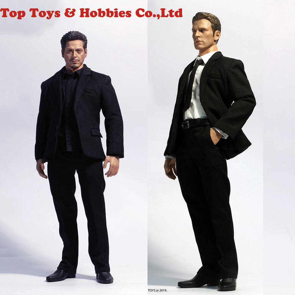 In Stock JXTOYS-034 1/6 Gentlemen's Suit Clothes Set With 2 Shirts For Strong JXS01 Body 12'' Male Action Figure