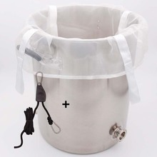 200 Micron Brew Bag for Kettles/Coolers + Ratchet Pulley 1/4