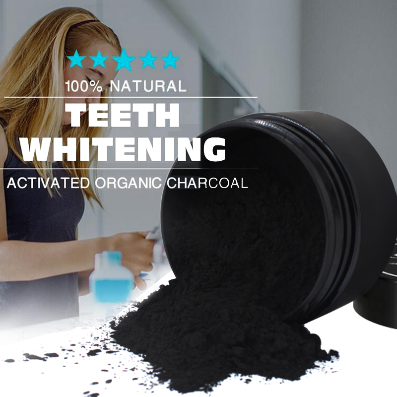 Activated Bamboo Charcoal Powder   Teeth Whitening Powder   Bamboo Teeth Whitening Kit with Toothbrush for Oral Hygiene   Organic Teeth Whitening Powder   Activated Charcoal Teeth Whitening Powder