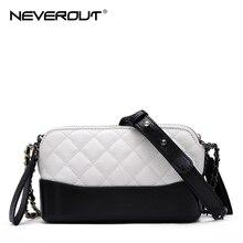 NEVEROUT Classic Ladies Cross body Bag Quilted Lattice Small Handbags Genuine Leather Shoulder Messenger Purse Bags for Women цена в Москве и Питере