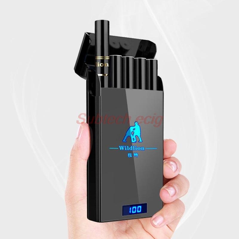 New Wildlion Pod Vape Pen Kit 450mah Charge Bank 1ml Cartridge Resin Panel Pod System Shisha Hookah Pen Electronic Cigarette