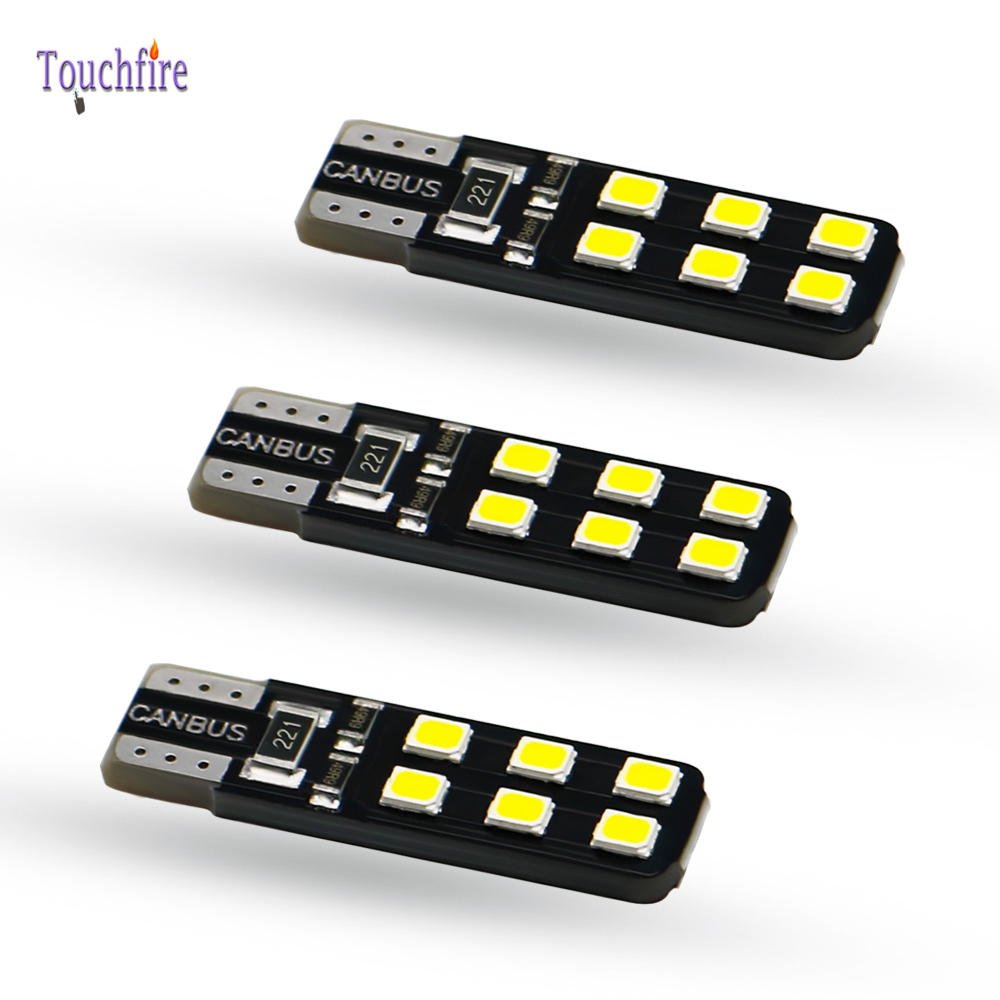 <font><b>100PCS</b></font> W5W LED <font><b>T10</b></font> 194 <font><b>canbus</b></font> led 12led 2835smd Clearance light Dome Signal Side lamp trunk <font><b>canbus</b></font> Car Bulb No Error Wholesale image