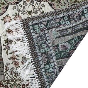 Image 3 - Толстые мягкие коврики для поклонения в гостиной ковер в этническом стиле ковер 65X110 см с кисточкой домашний пол мусульманское Молитвенное одеяло прямоугольник
