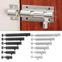 Black Silver Barrel Bolt 2/3/4/5/6/8inch Aluminum Alloy Door Latch Hardware for Home Hardware Gate Safety Door Bolt Latch Lock