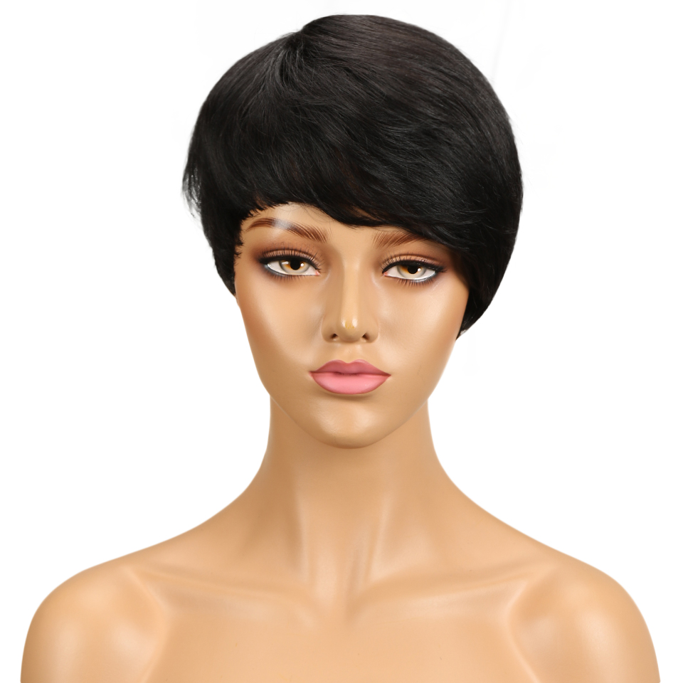 Trueme apuramento pixie corte peruca de cabelo