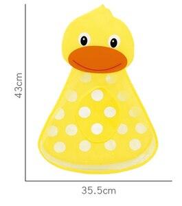 Image 3 - 赤ちゃんのおもちゃのアヒルメッシュバッグ風呂の浴槽人形オーガナイザー吸引浴室風呂のおもちゃものネットベビーキッズおもちゃバスゲームバッグ子供
