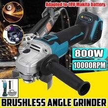 125/100mm 4 velocidade brushless ângulo elétrico moedor de moagem máquina sem fio diy carpintaria ferramenta elétrica para 18v bateria makita