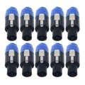 10 teile/los Kupfer Core 4 Pol Speakon Stecker Draht Kabel Anschluss Professionelle Stecker Audio Draht Stecker