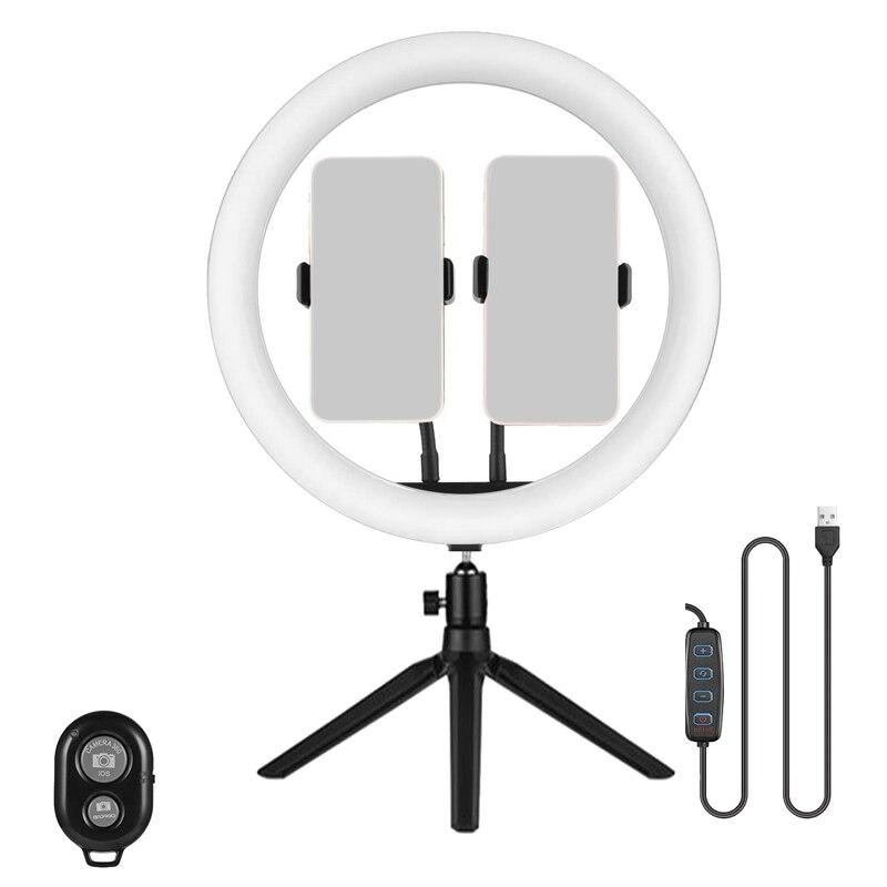 12 inç halka ışık canlı Selfie halka ışık masaüstü ayarlanabilir Tripod desteği 3 modları ve 10 parlaklık seviyeleri